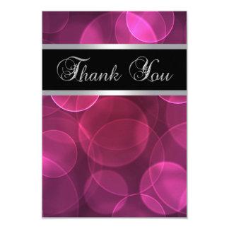 Las rosas fuertes planas le agradecen las tarjetas invitacion personalizada