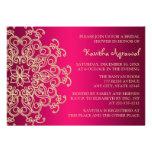 Las rosas fuertes y el indio del oro inspiraron la invitaciones personalizada