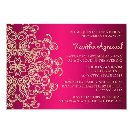 """Las rosas fuertes y el indio del oro inspiraron la invitación 5"""" x 7"""""""