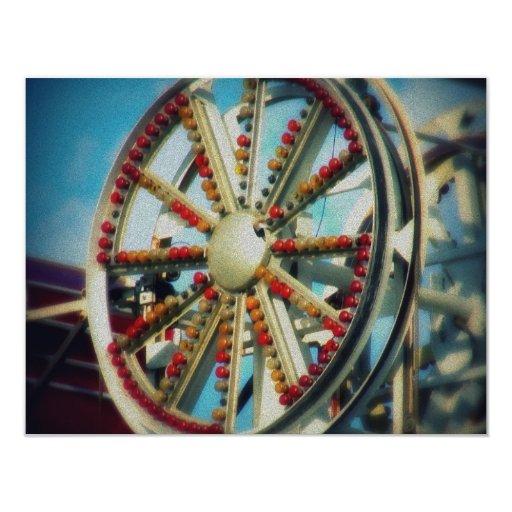 Las ruedas en el autobús invitación 10,8 x 13,9 cm