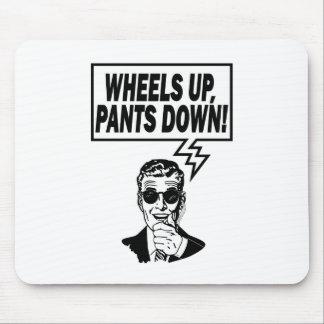 Las ruedas suben los pantalones abajo alfombrilla de ratones