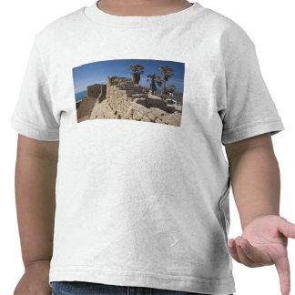 Las ruinas de Caesarea del puerto construyeron por Camisetas