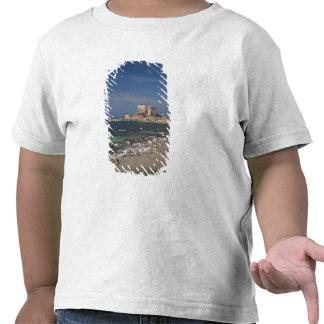 Las ruinas de Caesarea del puerto construyeron por Camiseta