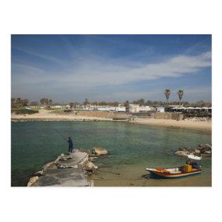 Las ruinas de Caesarea del puerto construyeron por Tarjeta Postal