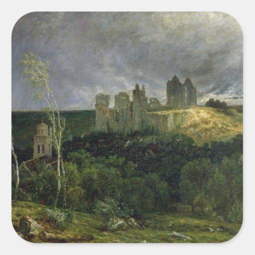 Las ruinas de Chateau de Pierrefonds, 1861 Colcomanias Cuadradases