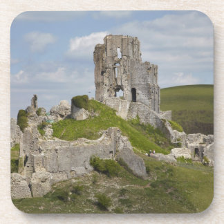 Las ruinas de Corfe se escudan, cerca de Wareham,  Posavasos De Bebida