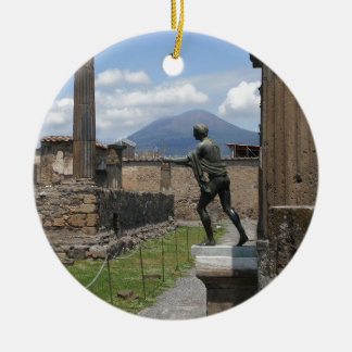 Las ruinas de Pompeya Adorno Navideño Redondo De Cerámica