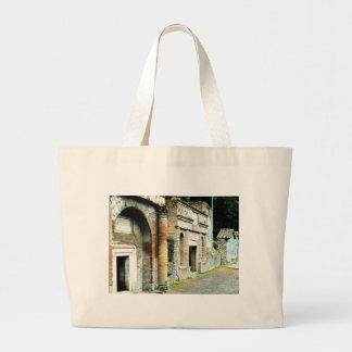 Las ruinas de Pompeya - mercado con los templos Bolsa De Mano