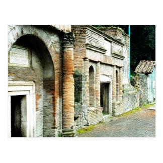 Las ruinas de Pompeya - mercado con los templos Postales