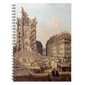 Las ruinas del Kreuzkirche viejo, Dresden Note Book