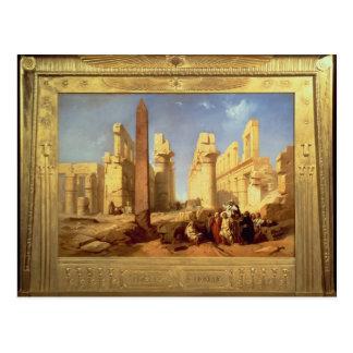 Las ruinas del palacio de Karnak en Thebes Postal