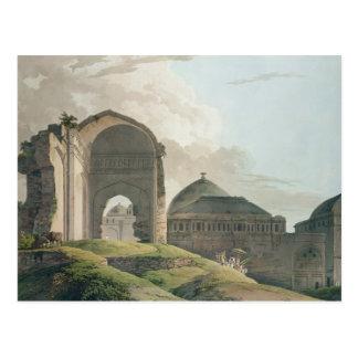 Las ruinas del palacio en Madurai, 1798 Postales