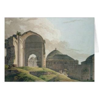 Las ruinas del palacio en Madurai, 1798 Tarjeta De Felicitación