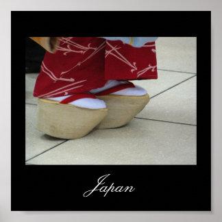 Las sandalias del geisha Japón Impresiones
