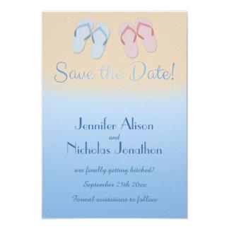 """Las sandalias modernas de los flips-flopes de la invitación 3.5"""" x 5"""""""