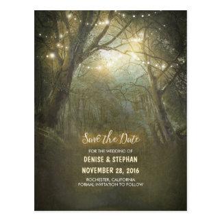 Las secuencias rústicas de la luz del bosque tarjeta postal