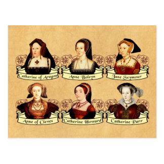Las seis esposas del Enrique VIII clásico Tarjeta Postal