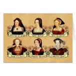 Las seis esposas del Enrique VIII clásico Tarjeton