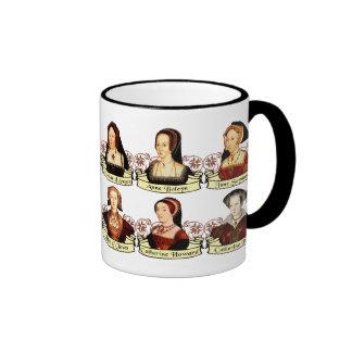 Las seis esposas del Enrique VIII clásico Taza De Dos Colores