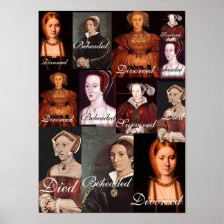 Las seis esposas del poster del Enrique VIII