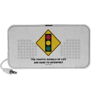 Las señales de tráfico de la vida son duras de int iPhone altavoz