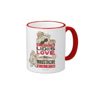 Las señoras aman el bigote tazas de café