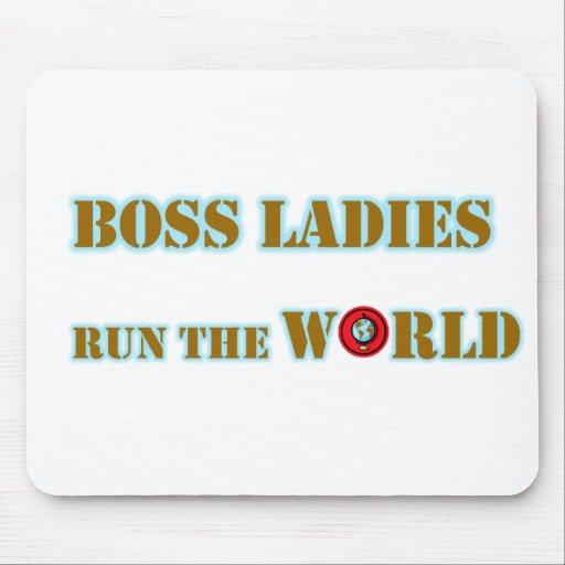 Las señoras de Boss funcionan con el mundo Mousepa Mouse Pads