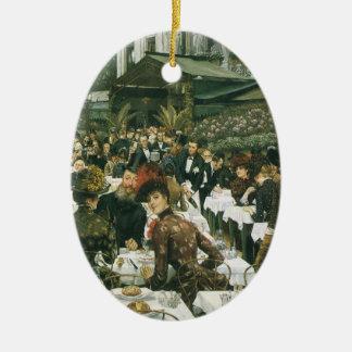 Las señoras del artista de James Tissot Adorno Navideño Ovalado De Cerámica