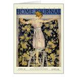 Las señoras se dirigen la cubierta del diario 1921 tarjeta