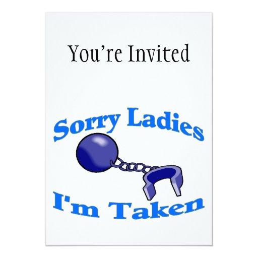 Las señoras tristes me toman invitación 12,7 x 17,8 cm