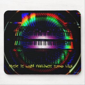 las sensaciones suenan como música tapete de ratón