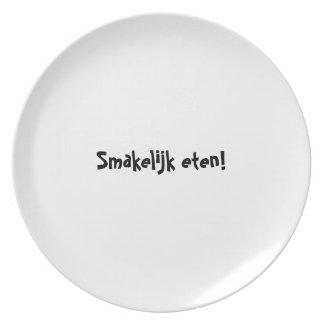 Las series de la placa del appetit del Bon - Plato Para Fiesta