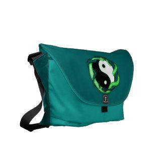 Las serpientes se doblan (el verde) bolsa de mensajeria