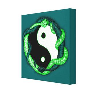 Las serpientes se doblan (el verde) impresión en lona estirada