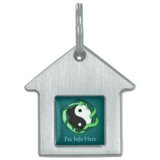 Las serpientes se doblan (el verde) placa de mascota