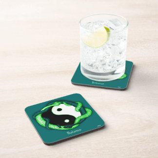 Las serpientes se doblan (el verde) posavasos de bebidas