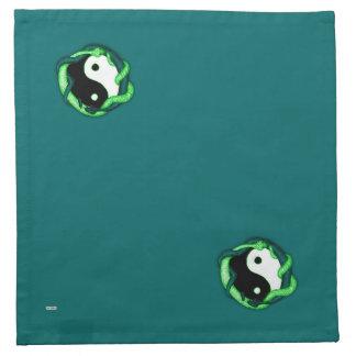 Las serpientes se doblan (el verde) servilletas