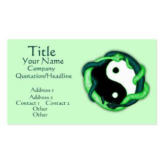Las serpientes se doblan (el verde) tarjetas de visita