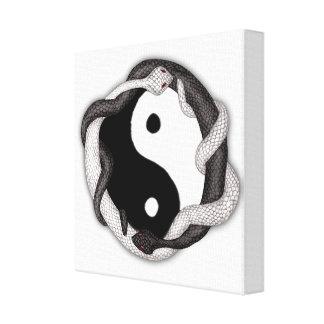 Las serpientes se doblan lienzo envuelto para galerias