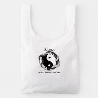 Las serpientes se doblan (negro/el blanco) bolsa reutilizable