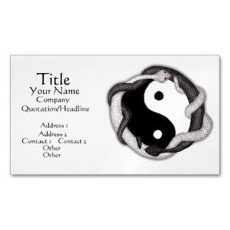 Las serpientes se doblan (negro/el blanco) tarjetas de visita magnéticas (paquete de 25)