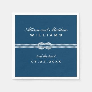 Las servilletas del boda el | ataron el diseño del servilleta de papel