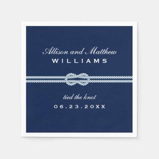 Las servilletas del boda el | ataron el diseño del servilleta desechable