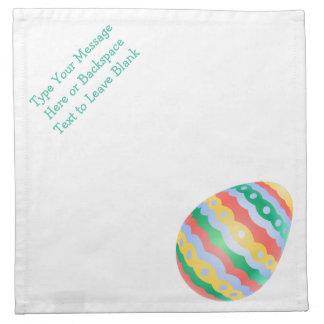 Las servilletas del huevo de Pascua personalizaron