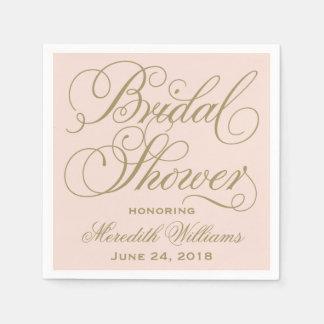 Las servilletas nupciales de la ducha el | se servilletas de papel