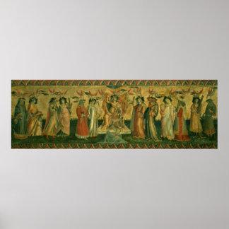Las siete humanidades, c.1435 póster