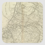 Las siete provincias unidas de Holanda Colcomanias Cuadradas Personalizadas