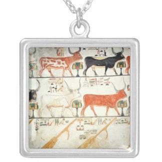 Las siete vacas celestiales y el toro sagrado colgante cuadrado
