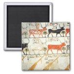 Las siete vacas celestiales y el toro sagrado imanes para frigoríficos