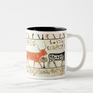 Las siete vacas celestiales y el toro sagrado taza de café